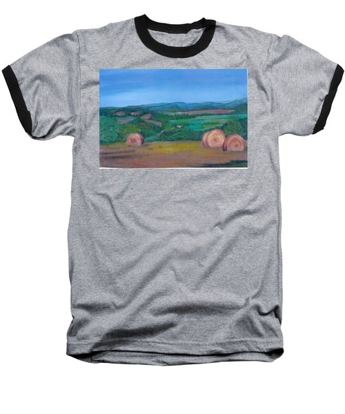 Hay Bales Baseball T-Shirt by Christine Lathrop