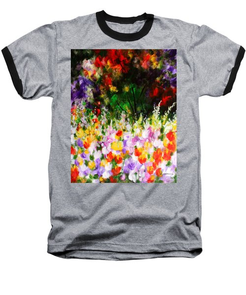 Baseball T-Shirt featuring the painting Heavenly Garden by Kume Bryant