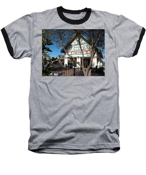 Hemet Museum-old Santa Fe Depot Baseball T-Shirt