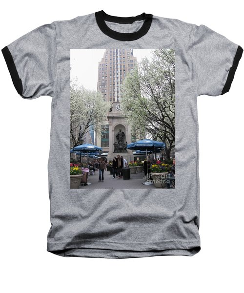 Baseball T-Shirt featuring the photograph Herald Square by Dora Sofia Caputo Photographic Art and Design