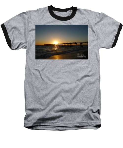 Hermosa Beach Sunset Baseball T-Shirt