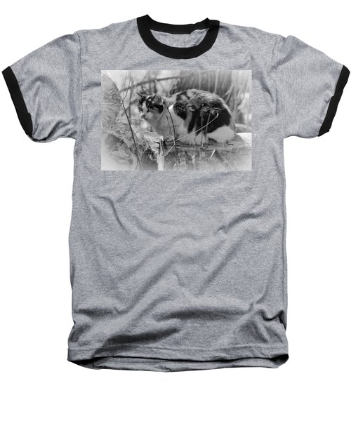 Baseball T-Shirt featuring the photograph Hiding by Eunice Gibb