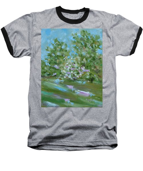 Baseball T-Shirt featuring the painting Hilltop by Judith Rhue
