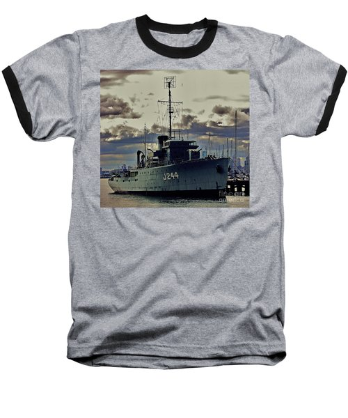 Baseball T-Shirt featuring the photograph Hmas Castlemaine 1 by Blair Stuart