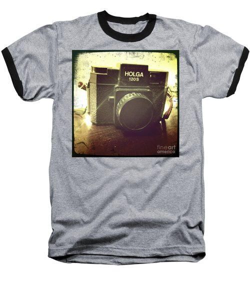Baseball T-Shirt featuring the photograph Holga by Nina Prommer
