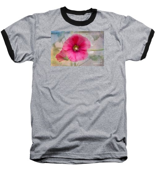 Hollyhock Baseball T-Shirt by Lena Auxier