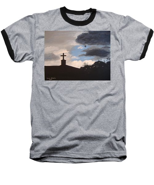 Baseball T-Shirt featuring the painting Hope In The Storm by Norm Starks