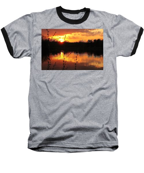 Horn Pond Sunset 8 Baseball T-Shirt