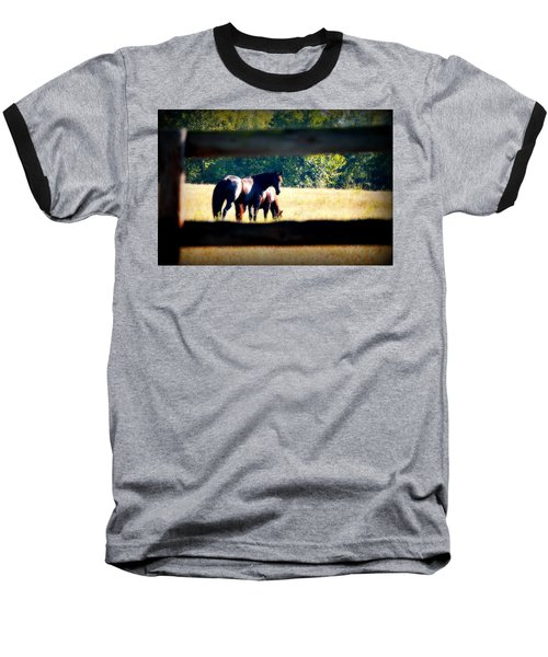 Baseball T-Shirt featuring the photograph Horse Photography by Peggy Franz