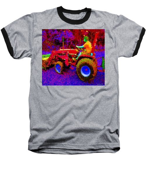 Baseball T-Shirt featuring the photograph Hot Afternoon On A John Deere Tractor by George Pedro