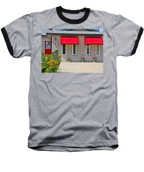 Baseball T-Shirt featuring the photograph House With Red Shades. by Johanna Bruwer