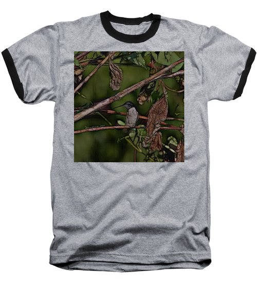 Baseball T-Shirt featuring the photograph Hummingbird Waiting For Dinner by EricaMaxine  Price