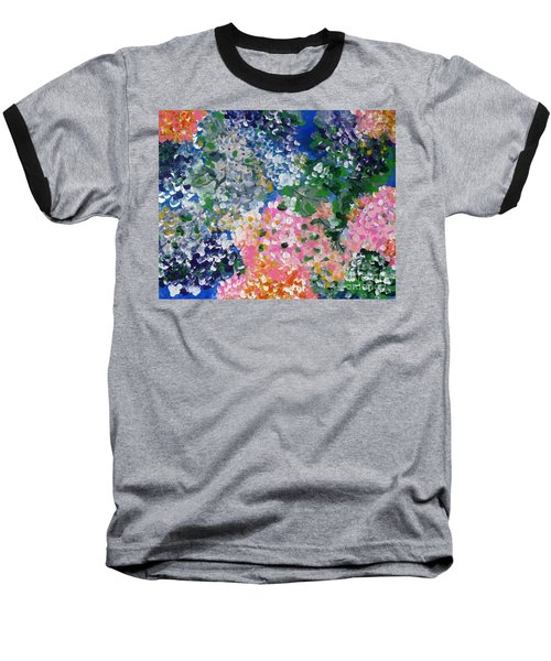 Baseball T-Shirt featuring the painting Hydrangeas I by Alys Caviness-Gober