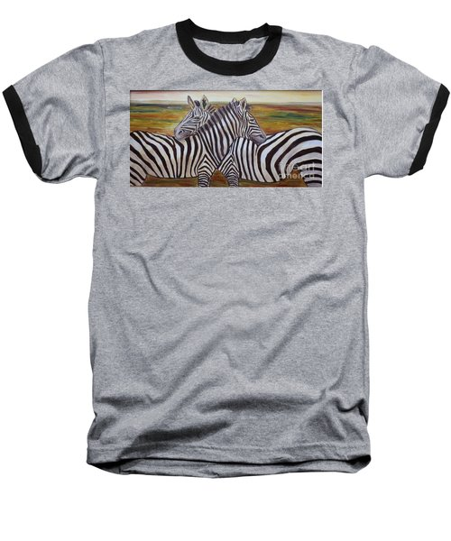 Baseball T-Shirt featuring the painting I Think Its This Way by Julie Brugh Riffey