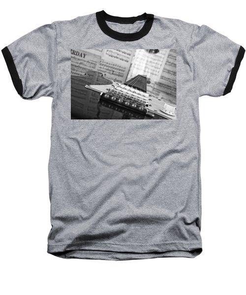 Ibanez Six String Black And White Baseball T-Shirt