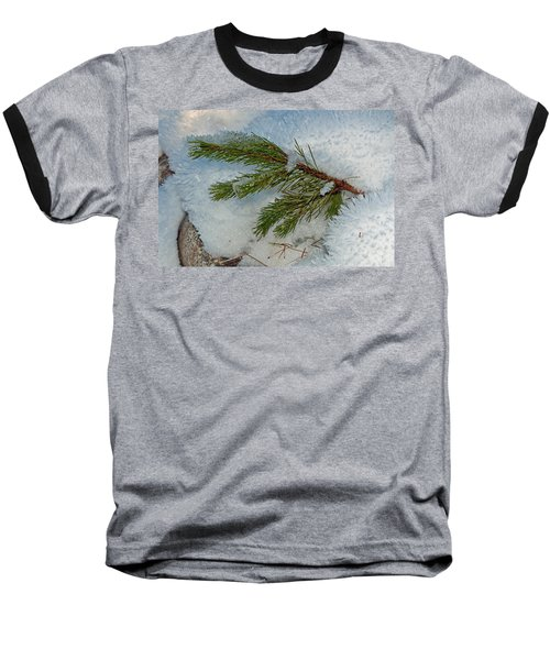 Baseball T-Shirt featuring the photograph Ice Crystals And Pine Needles by Tikvah's Hope