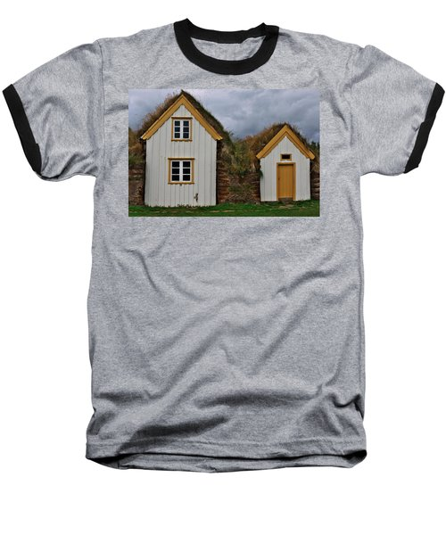 Icelandic Turf Houses Baseball T-Shirt