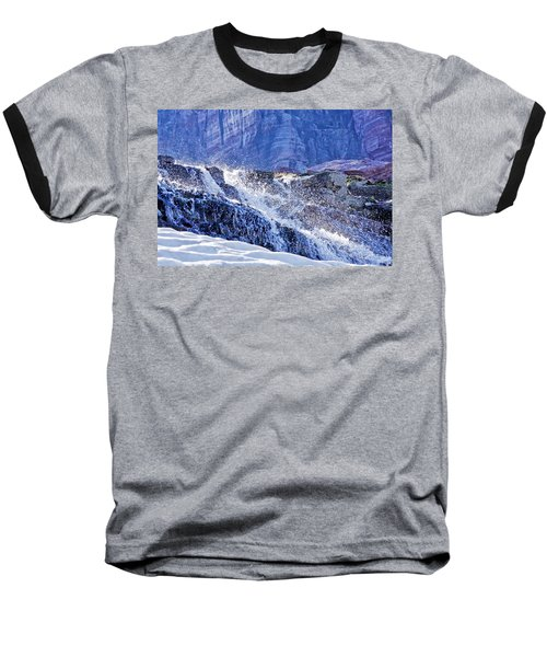 Baseball T-Shirt featuring the photograph Icy Cascade by Albert Seger