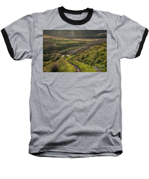Icy Track Baseball T-Shirt by Clare Bambers