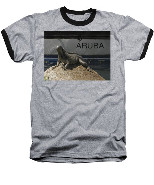 Baseball T-Shirt featuring the photograph Iguana by David Gleeson