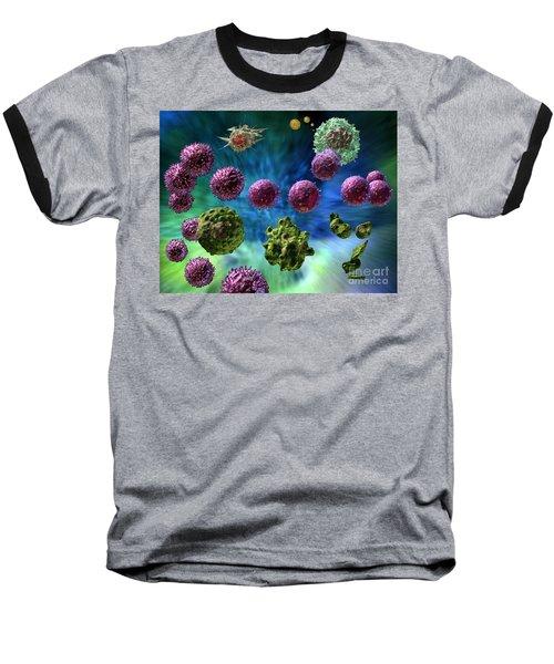 Baseball T-Shirt featuring the digital art Immune Response Cytotoxic 1 by Russell Kightley