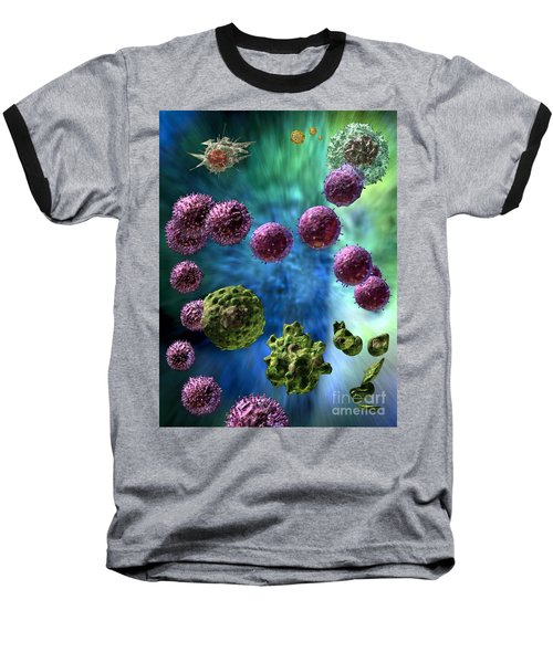 Baseball T-Shirt featuring the digital art Immune Response Cytotoxic 3 by Russell Kightley