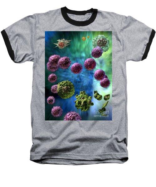 Baseball T-Shirt featuring the digital art Immune Response Cytotoxic 3 by Russell Kightley