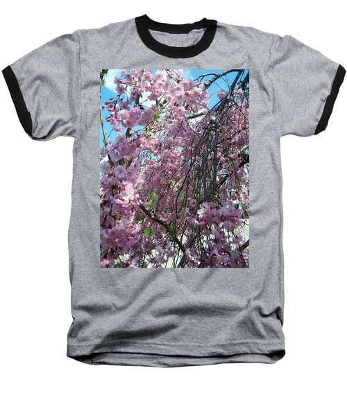 Baseball T-Shirt featuring the painting In Bloom by Cynthia Amaral