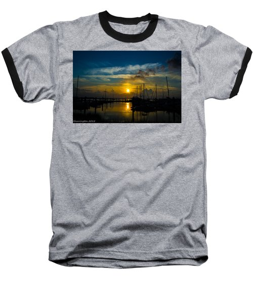 In For The  Night Baseball T-Shirt by Shannon Harrington