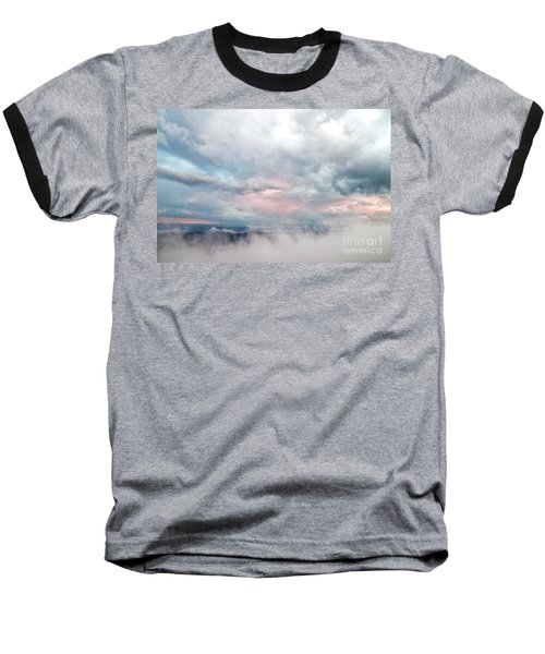 In The Clouds Baseball T-Shirt by Jeannette Hunt