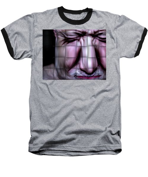 Baseball T-Shirt featuring the mixed media In The Moment by Terence Morrissey