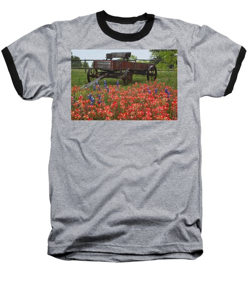 Indian Paintbrush And Wagon Baseball T-Shirt