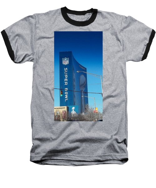 Indianapolis Marriott Welcomes Super Bowl 46 Baseball T-Shirt