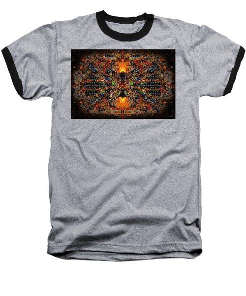 Infinity Mosaic Warm Baseball T-Shirt by Paula Ayers