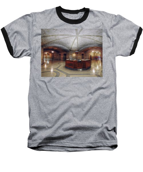 Baseball T-Shirt featuring the photograph Info Desk by Art Whitton