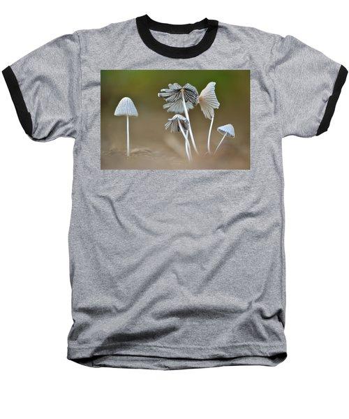 Ink-cap Mushrooms Baseball T-Shirt