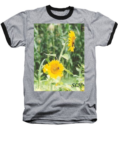 Insect On Sunflowers Baseball T-Shirt