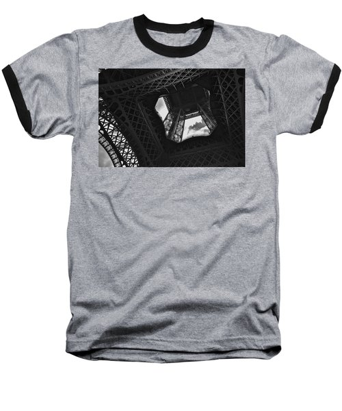 Baseball T-Shirt featuring the photograph Inside The Eiffel Tower by Eric Tressler