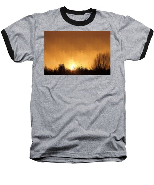 Baseball T-Shirt featuring the mixed media Insomnia 1 by Terence Morrissey