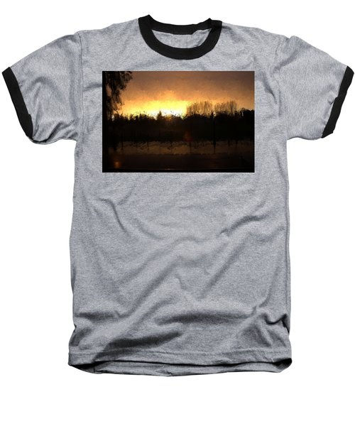 Baseball T-Shirt featuring the mixed media Insomnia II by Terence Morrissey