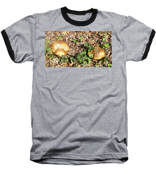 Baseball T-Shirt featuring the photograph Invasive Shrooms by Pamela Hyde Wilson