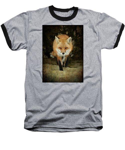 Island Beach Fox Baseball T-Shirt by Sami Martin