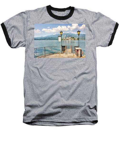 Island San Giulio On Lake Orta Baseball T-Shirt