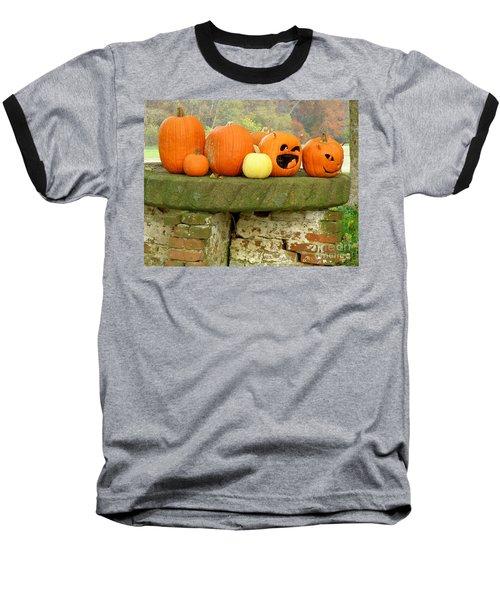 Jack-0-lanterns Baseball T-Shirt by Lainie Wrightson