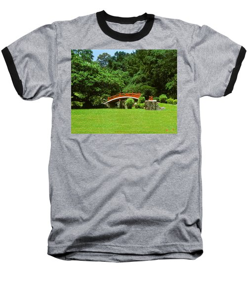 Baseball T-Shirt featuring the photograph Japanese Garden Bridge 21m by Gerry Gantt