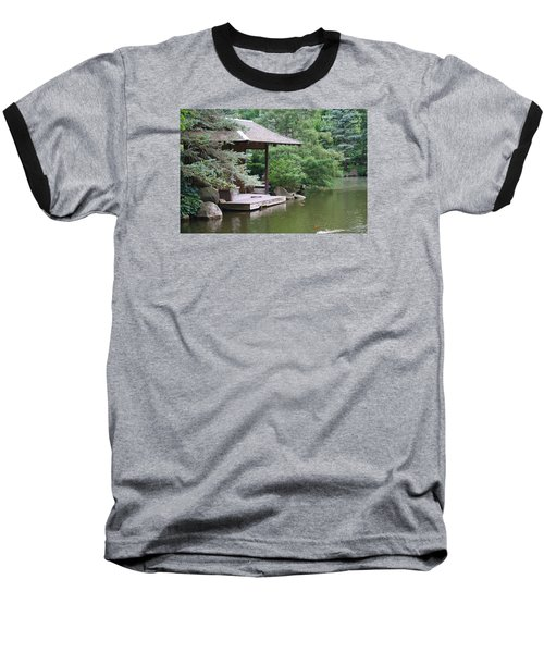 Baseball T-Shirt featuring the photograph Japanese Tea House by Bruce Bley