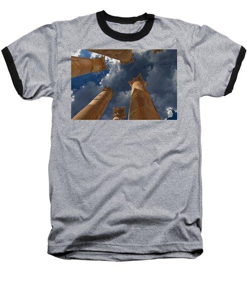 Baseball T-Shirt featuring the photograph Jerash by David Gleeson