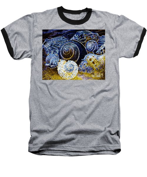 Abstract Seashell Art Baseball T-Shirt