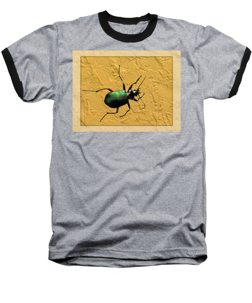 Baseball T-Shirt featuring the photograph Jeweltone Beetle by Debbie Portwood