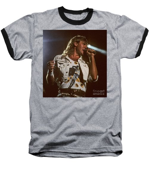 Joe Elliot Baseball T-Shirt by David Plastik